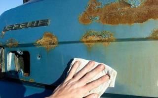Проведение работ по удалению ржавчины