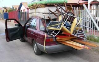 Перевозка груза на легковом автомобиле