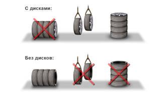 Каким образом необходимо хранить шины?