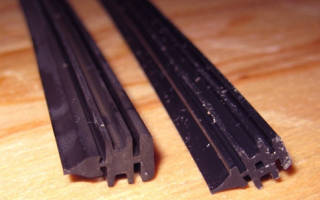 Как произвести замену резинок на бескаркасных дворниках