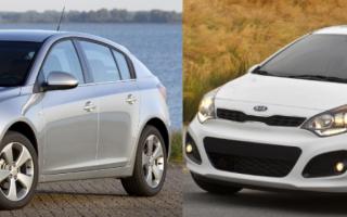 Что лучше Kia Rio или Chevrolet Cruze