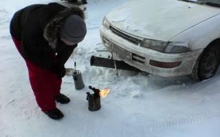 Прогрев автомобиля в зимнее время