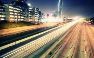 Вождение автомобиля по трассе или шоссе
